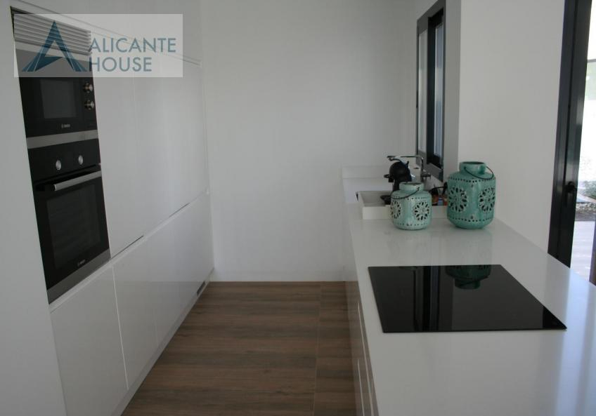 The kitchen is equipped with furniture and household appliances Bosch