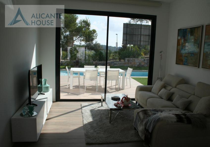 Villa with panoramic windows