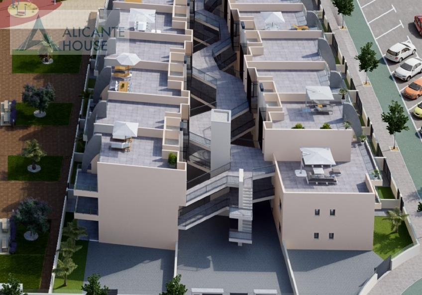 Top view of urbanization