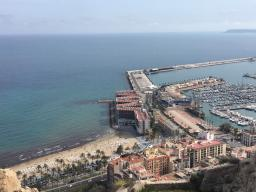 Best panoramic view of the port in Alicante