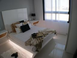 The layout of the bedroom
