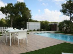 Terrace and pool